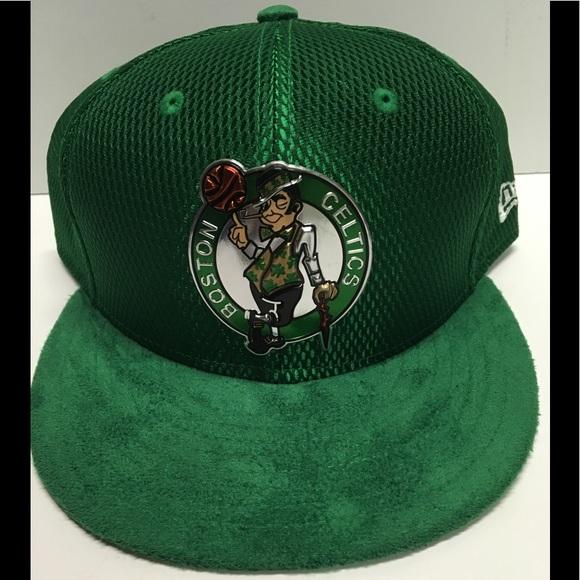Green new era Boston Celtics fitted hat size 7 3 4 402da6e5ce0